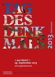 Tag des Denkmals - Gemeinde Dechantskirchen