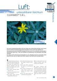 unbezahlbarer Reichtum CLEANMIST® S.R.L. - DECO Magazine ...