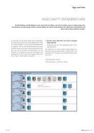 MultiAlpha & MultiSigma: Anschnitt Spänebrechen