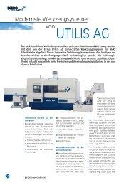 UTILIS AG - DECO Magazine - The site - Tornos SA