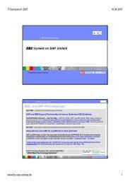 DB2 Vorteile im SAP Umfeld DB2 und SAP Ankündigungen