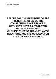 Rapport Védrine_ENG_GERMAN - Ministère de la Défense