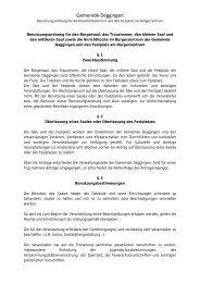 Benutzungsordnung Bürgersaal - Deggingen
