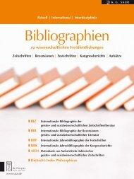 Bibliographien - Walter de Gruyter