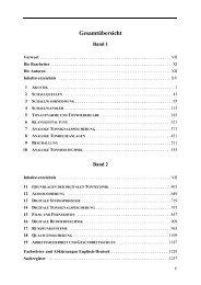 Band 1 - Inhaltsverzeichnis - Walter de Gruyter