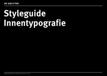 Styleguide Innentypografie | © 2013 De Gruyter ... - Walter de Gruyter