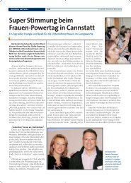 Super Stimmung beim Frauen-Powertag in Bad Cannstatt - Dehoga