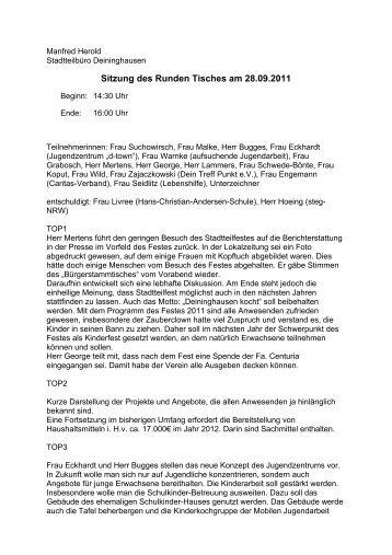 Protokoll 28.09.2011 - Deininghausen