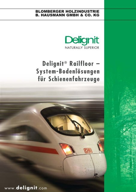 Delignit® Railfloor – System-Bodenlösungen für Schienenfahrzeuge