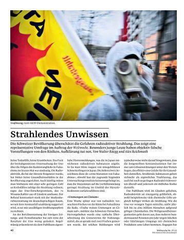 Strahlendes Unwissen - DemoSCOPE