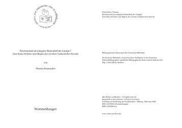 Kirchenmusik als integraler Bestandteil der Liturgie - Institut zur ...
