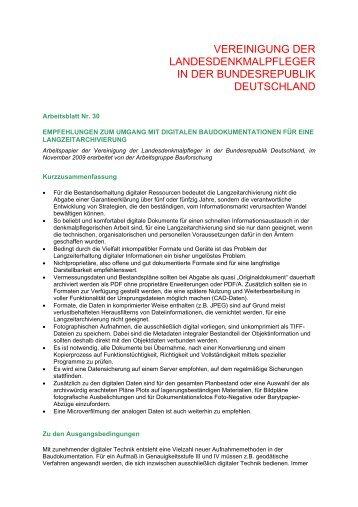 Nr. 30 - Denkmalpflege Forum