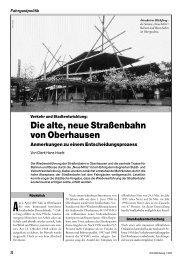 Die alte, neue Straßenbahn von Oberhausen