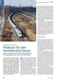 Plädoyer für den Fernbahnhof Deutz - derFahrgast
