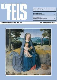 Katholisches Wort in die Zeit 44. Jahr Januar 2013 - Der Fels