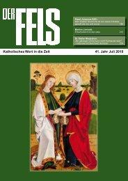 Katholisches Wort in die Zeit 41. Jahr Juli 2010 - Der Fels