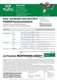 Preisliste Mokit und Premium Montessori 2013/14 - Riedel GmbH