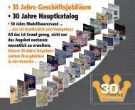 • 35 Jahre Geschäftsjubiläum • 30 Jahre Hauptkatalog - Modellsport ...