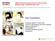 EADV Fostering Training Course in Hair & Scalp