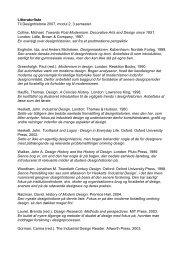 3. sem., Litteraturliste Designhistorie Modul 2 - Designskolen Kolding