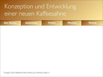 Konzeption und Entwicklung einer neuen Kaffeesahne
