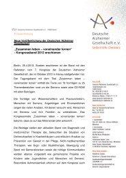 Zusammen leben – voneinander lernen - Deutsche Alzheimer ...