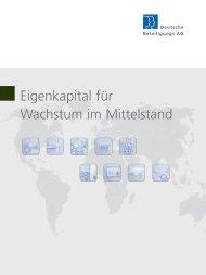 Wachstumsfinanzierung im Mittelstand - Deutsche Beteiligungs AG