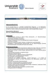 Stellenausschreibung W 16-13 An der Universität Rostock ist ...