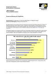 Mobile Content - Deutsche Fachpresse