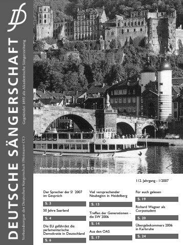 2007/1 - Deutsche Sängerschaft