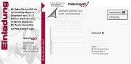 Infocard 10 Musterbeispiele - Deutsche Post