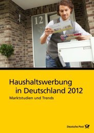 Haushaltswerbung in Deutschland 2012 ... - Deutsche Post