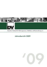 DV Jahresbericht 2009 - Deutscher Verband für Wohnungswesen ...