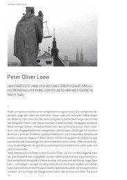 Peter Oliver Loew: »Das größte Unglück des Weltprotestantismus«.