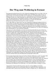 Walter Post - Der Weg zum Weltkrieg in Fernost - Deutschland Journal