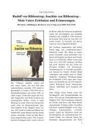 Rudolf von Ribbentrop - Deutschland Journal