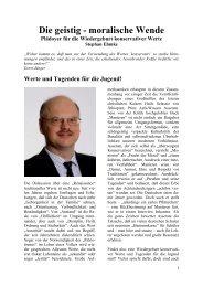Stephan Emke: Die geistig-moralische Wende - Deutschland Journal