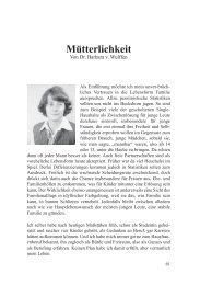 Barbara von Wulffen - Muetterlichkeit - Deutschland Journal