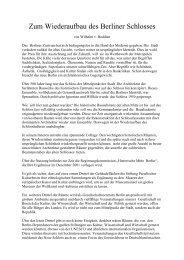 Zum Wiederaufbau des Berliner Schlosses - Deutschland Journal