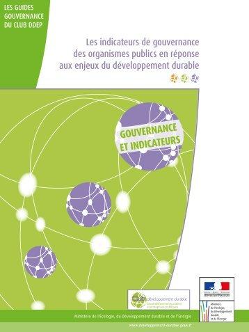 Le guide indicateurs de gouvernance - Ministère du Développement ...