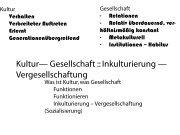 Kultur— Gesellschaft :: Inkulturierung — Vergesellschaftung
