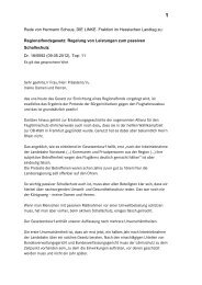 Rede von Hermann Schaus im Hessischen Landtag