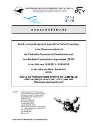 A U S S C H R E I B U N G - Deutscher Fallschirmsport Verband