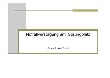 Notfallversorgung am Sprungplatz / INSITA 2010
