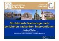 Strukturierte Nachsorge nach peripheren vaskulären Interventionen