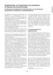 Empfehlungen zur Organisation der Anästhesie im Rahmen ... - DGAI
