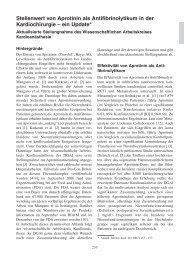 Stellenwert von Aprotinin als Antifibrinolytikum in der ... - DGAI