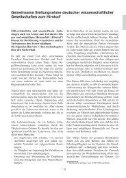 Gemeinsame Stellungnahme deutscher wissenschaftlicher ... - DGAI