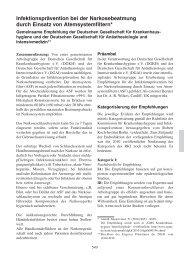 EEV [5. Auflage 2011] - Infektionsprävention bei der ... - DGAI