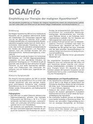 Empfehlung zur Therapie der malignen Hyperthermie - DGAI